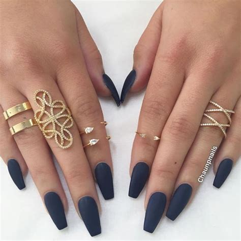 Nail Designs For Navy Blue Dress