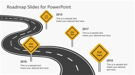 powerpoint template road free roadmap slides for powerpoint slidemodel