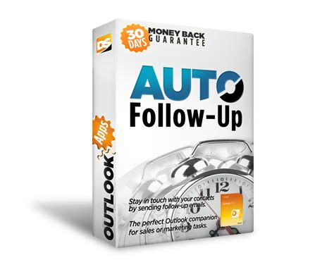 auto follow up emails in outlook