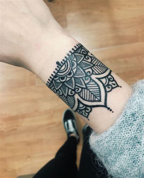 arm bracelet tattoo designs half mandala bracelet mandalatattoos