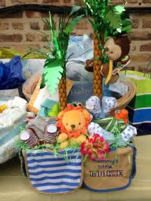 Jungle Theme Favors For Baby Showers by Baby Shower Jungle Theme Gift Basket Baby Shower Ideas