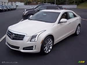 All White Cadillac White Tricoat 2013 Cadillac Ats 3 6l Premium Awd