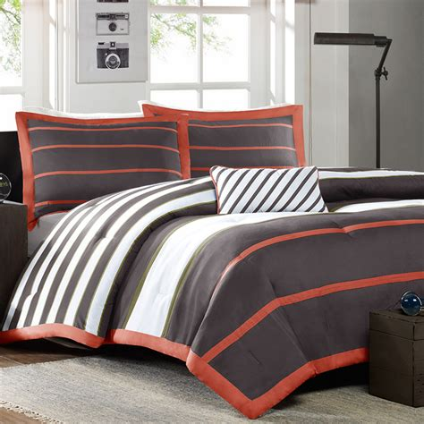 mizone ashton full queen comforter set grey free shipping
