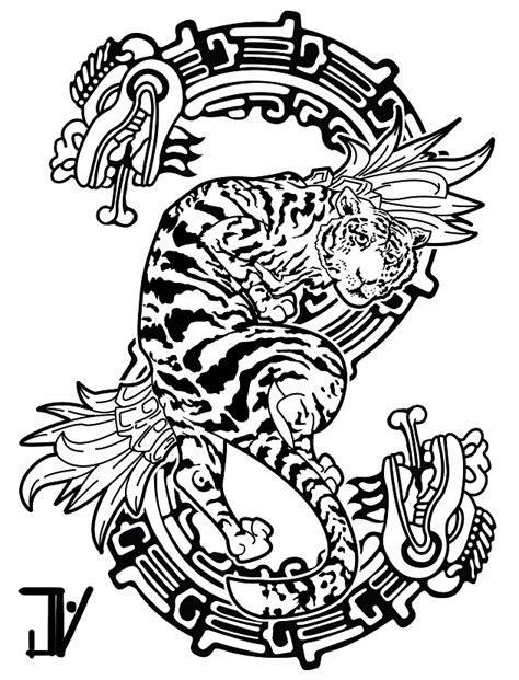 uncle tattoo designs design tiger serpent by jhnyv on deviantart