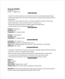 Free Resume Format Template by Experienced Resume Format Template 8 Free Word Pdf