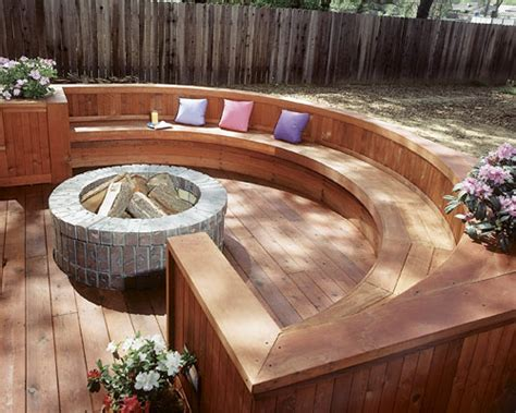 fire pit wood deck protection deck design and ideas