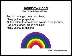colors of the rainbow lyrics 10 preschool songs about colors