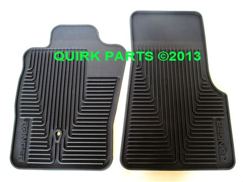 2005 Ford Ranger Floor Mats by 2004 2010 Ford Ranger Front Black All Weather Floor Mats