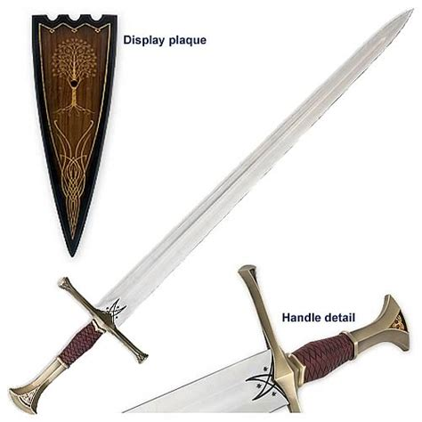 lord of the rings sword of isildur prop replica united