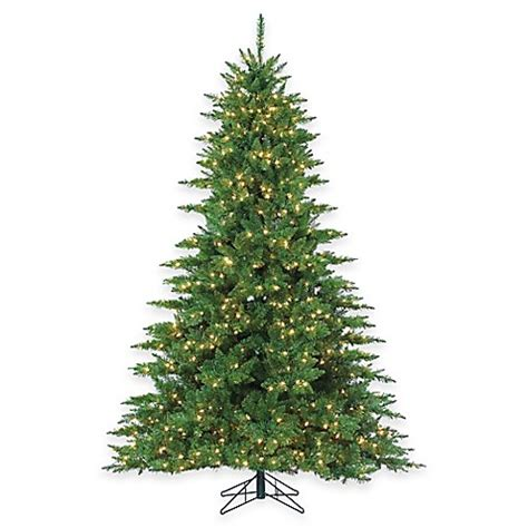 7 1 2 foot pre lit wellington pine christmas tree with