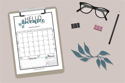 Calendrier Novembre 2017 à Imprimer Calendrier 224 Imprimer De Novembre 2017 Minou Le Chat