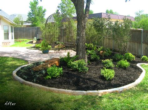 landscape around large tree this landscape design shows landscaping around a focal point an