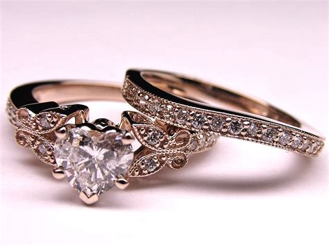 engagement ring shape butterfly vintage