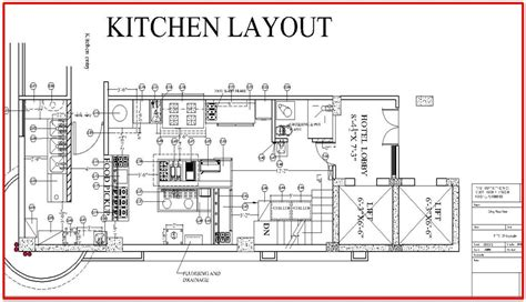 restaurant kitchen layout pdf restaurant kitchen layout plan architecture pinterest