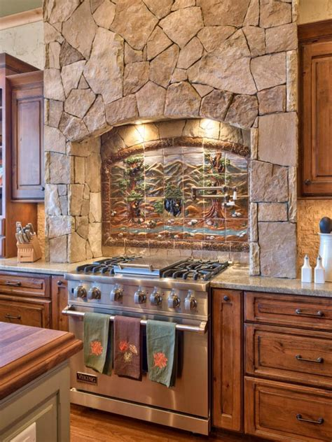 rustic stone kitchen  country appeal country kitchen