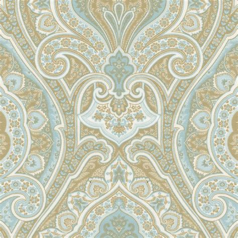 blue pattern material blue and taupe paisley fabric by the yard blue fabric
