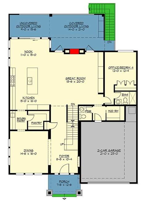 contemporary tri level home 7896ld 2nd floor master modern prairie house plan with tri level living 23694jd