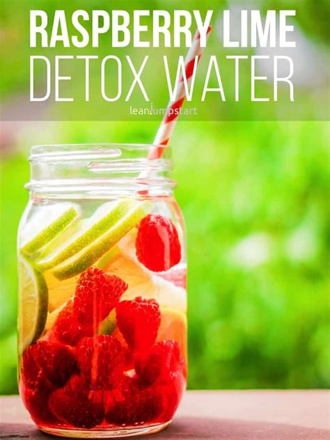 Raspberry Lime Water Detox detox water top 24 clean recipes to boost your metabolism