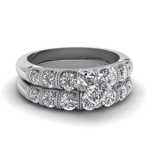 solid and lusturous 14k white gold engagement rings