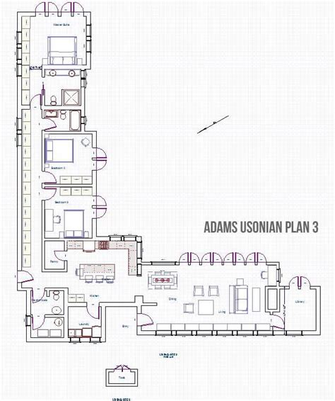 usonian home plans adams usonian type floor plan3 for students