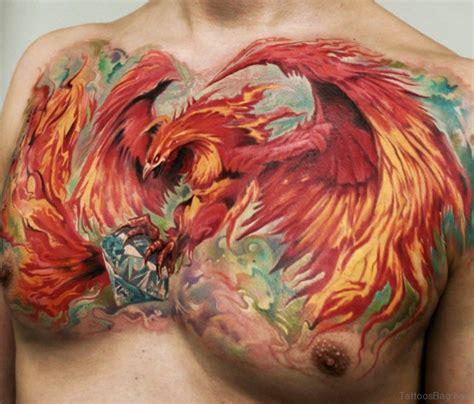phoenix tattoo on chest 68 outstanding chest tattoos