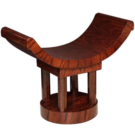 art bench french art deco wood bench with curved seat circa 1930s