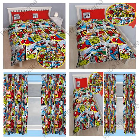 marvel comic curtains marvel comics justice duvet cover sets matching 54 quot 72