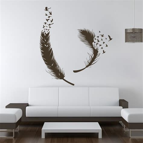 birds  feather wall decals vinyl decal housewares art