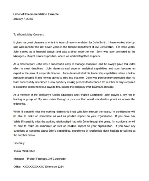 sample letter recommendation student