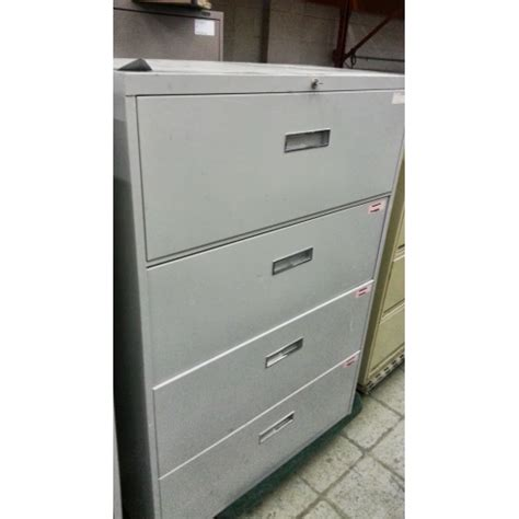 Global Lateral File Cabinet Global 4 Drawer Lateral Filing Cabinet Grey W Allsold Ca Buy Sell Used Office