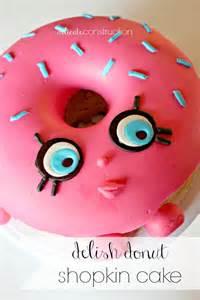 d lish donut shopkin cake delicate construction