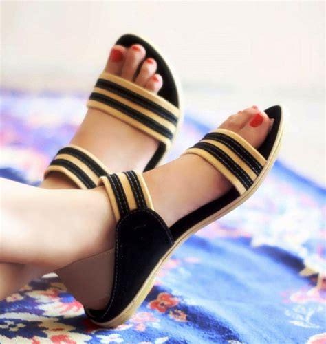 Sandal Flat Modis Terbaru Wanita Branded Catenzo Jm 011 Tosca Sintet model sepatu wanita terbaru hairstylegalleries