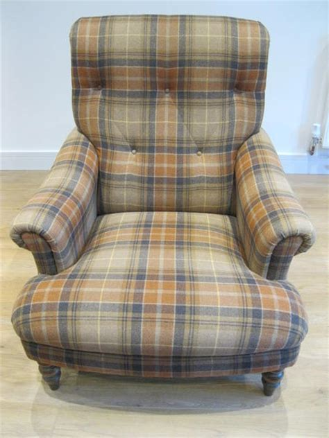 gibson armchair john lewis button back gibson armchair in tartan plaid