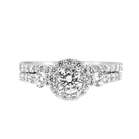 the wedding present band past present future 3 cz bridal wedding engagement ring