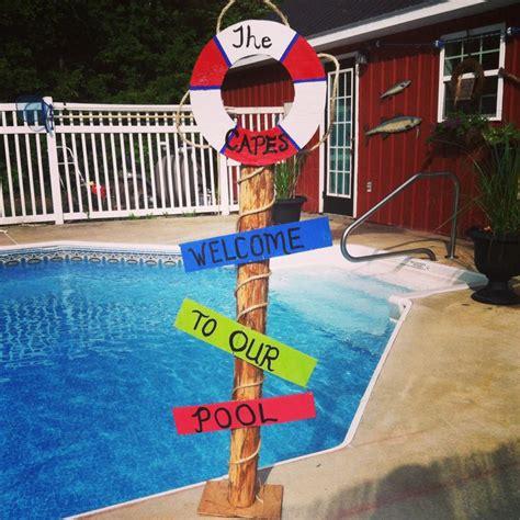 Backyard Hilarious Triyae Backyard Pool Signs Various Design