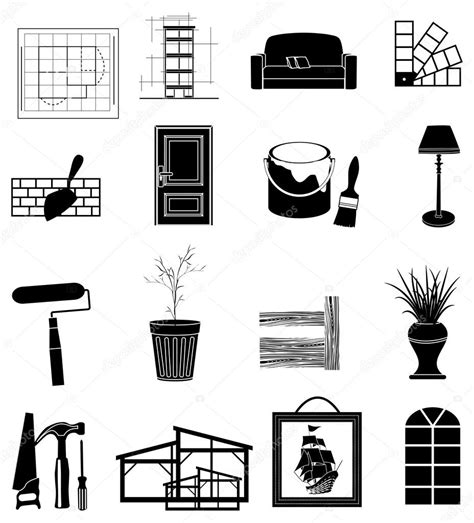 interior design elements icons stock vector art 165814827 75 interior design icon vector set of vector icons