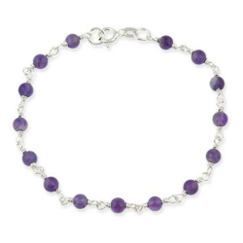 sterling silver beaded bracelet sterling silver amethyst beaded bracelet bracelets