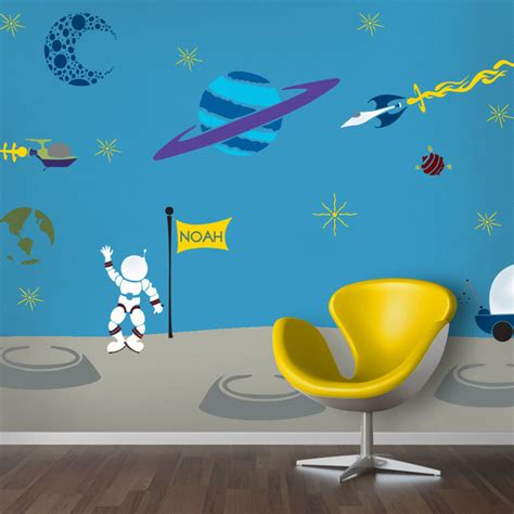 space themed wall murals outrageous space wall mural stencil kit for painting contemporary wall stencils by my