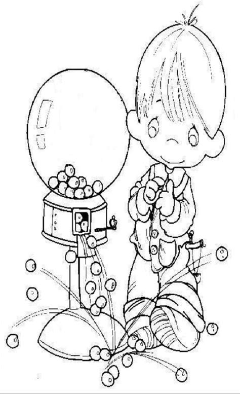 Precious Moments Coloring Pages Pinterest Precious Moments Boy Coloring Page Free