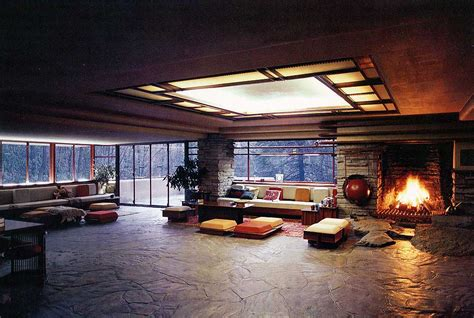 waterfall house interior fallingwater interior kaufmann house falling water interior class pinterest