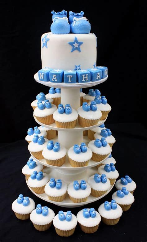 Cupcake Nursery Decor Baby Boy Cupcake Tower Baking Ideas Cupcake Towers Baby Boy And Baby Boy Cupcakes
