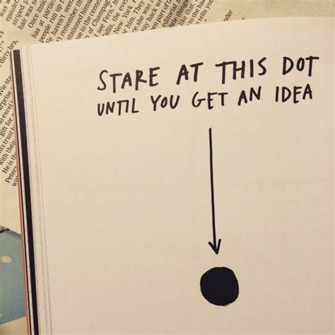 design thinking journal stare at this dot until you get an idea design thinking