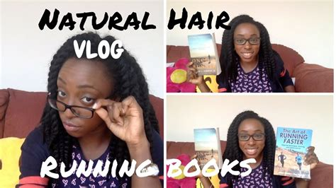 vlog hair running books and what hairstyle