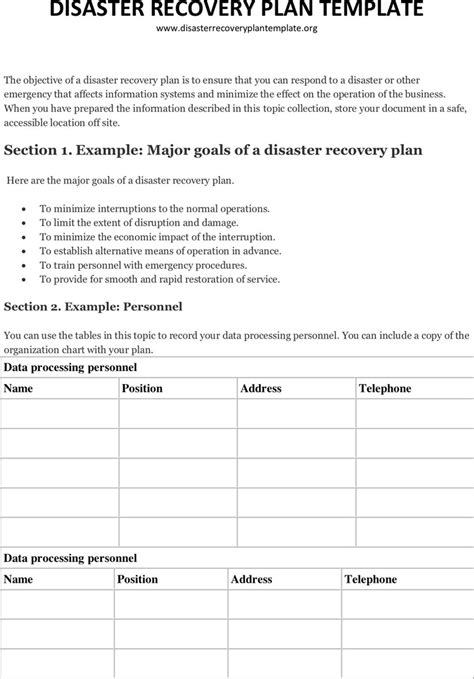 Manufacturing Disaster Recovery Plan Template Free Template Design Manufacturing Disaster Recovery Plan Template