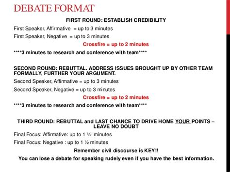 debate notes template huckabee debate notes and format 3 w rubric 2