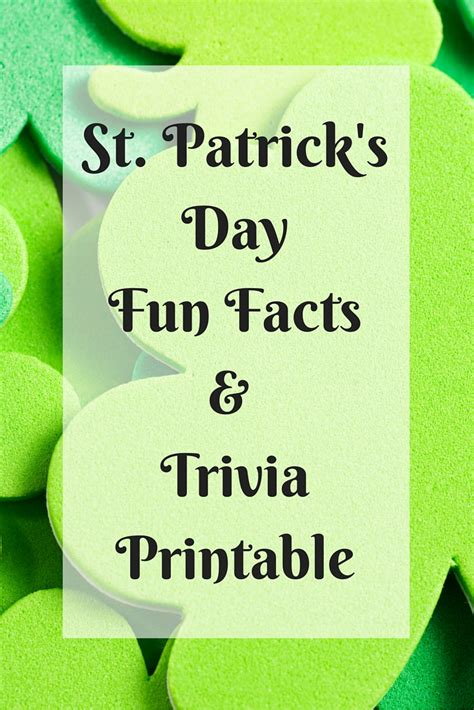 st trivia facts about st s day my pinterventures