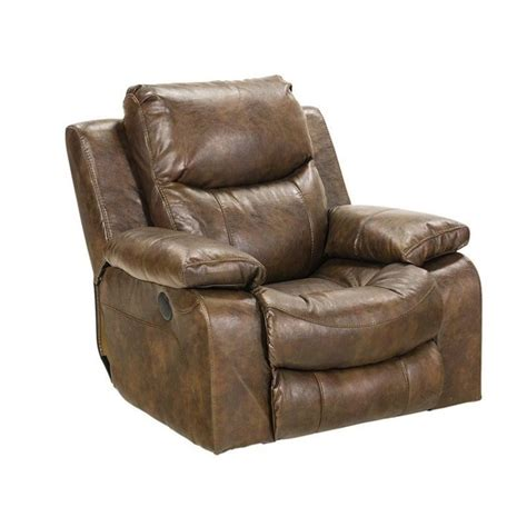 power glider recliner catnapper catalina leather power glider recliner in timber