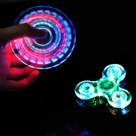 Spinner I U Spinner I U Spinner Led Murah Lagi 2017 rainbow fidget spinner led light change spinners toys lot tri fidget edc focus