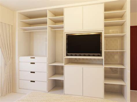 Television Wardrobe by Freelance For Interior Design 3d Visualization Rendering Jade Yishun Bedrooms
