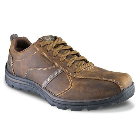 skechers mens superior levoy brown comfort wide width